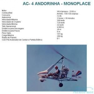 GIROCÓPTERO - AC- 4 Andorinha - monoplace