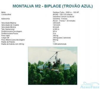 GIROCÓPTERO - Montalva M2 - Biplace (Trovão Azul)